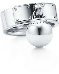 Tiffany & Co. - Ball Dangle Ring - Lyst