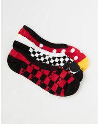 Vans - Disney X 3 Pack Mickey's 90th Womens Canoodle Socks - Lyst