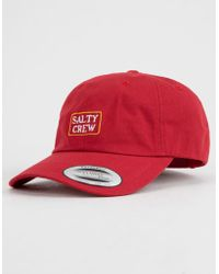 cheap for discount 4a666 69887 ... best price salty crew stacked mens dad hat lyst 759e6 10152
