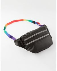 Lyst - Jansport Waisted Cloud Camo Stripe Fanny Pack in Black ab2dc8264d28b