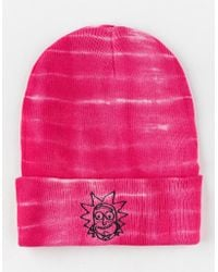 Primitive - X Rick And Morty Rick Washed Pink Mens Beanie - Lyst