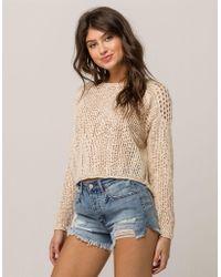 Billabong - See Ya Soon Cream Womens Sweater - Lyst