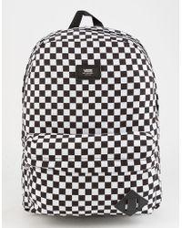 a134f7024d9 Vans - Old Skool Ii Black & White Checkerboard Backpack - Lyst