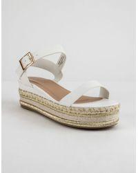 Bamboo - Infinity White Womens Platform Espadrille Sandals - Lyst