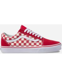 e6b446ae80 Lyst - Vans Old Skool Pro Pompeian Red Gum White Mens High Top ...