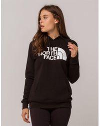 The North Face - Jumbo Logo Black Womens Hoodie - Lyst