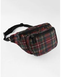 Dickies - Red Tart Plaid Fanny Pack - Lyst