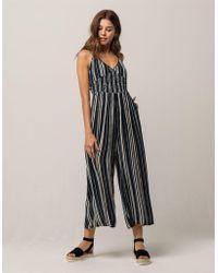f430efb31271 Lyst - Mimi Chica Stripe Crop Womens Jumpsuit in Blue