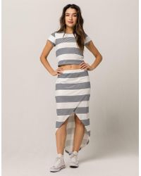 Roxy - Romantic Ocean Skirt - Lyst
