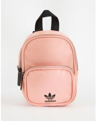 5df52bf197 adidas - Originals Faux Leather Pink Mini Backpack - Lyst