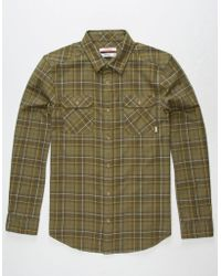 Nixon - Lewis Mens Flannel Shirt - Lyst