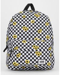 a5e1404e3 Vans Realm Sunflower Checkerboard Backpack