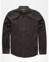 RVCA - That'll Do Oxford Mens Shirt - Lyst
