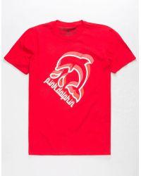 Pink Dolphin - Splash Emboss Mens T-shirt - Lyst