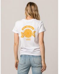 Vans - Sunflower Rocker Womens Tee - Lyst