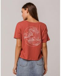 Others Follow - Wave Womens Crop Tee - Lyst