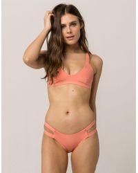 Tavik - Chloe Cheeky Coral Bikini Bottoms - Lyst
