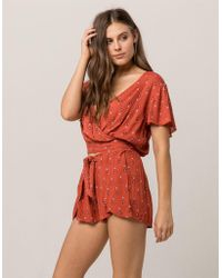 Patrons Of Peace - Floral Wrap Womens Shorts - Lyst