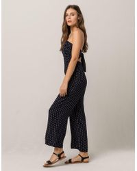 a5f75eff4099 Mimi Chica - Medallion Tie Back Womens Tube Jumpsuit - Lyst