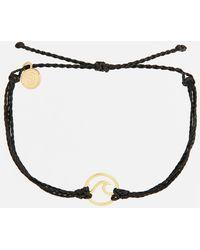 Pura Vida - Wave Black & Gold Bracelet - Lyst