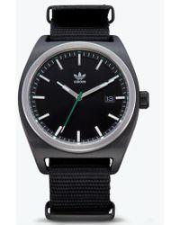 6145b3a38b6b adidas 'adizero Basic Mid' Digital Watch in Purple - Lyst