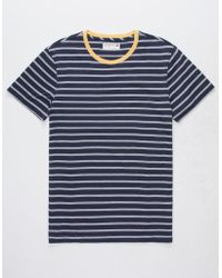 Retrofit - Trip Stripe Navy Mens T-shirt - Lyst