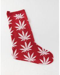 353e9d29b Lyst - Huf Plantlife Thigh Highs in Pink