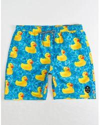 Neff - Ducky Mens Hot Tub Blue Volley Shorts - Lyst