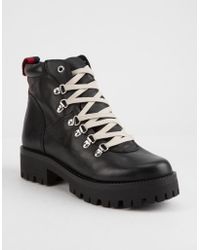 7ae294a6ecf1 Steve Madden Bam Combat Boot in Red - Save 66% - Lyst