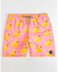 Neff - Ducky Hot Pink Mens Hot Tub Volley Shorts - Lyst