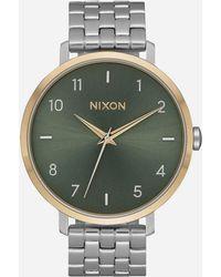 Nixon - Arrow Silver Gold & Agave Watch - Lyst