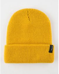 a8a64a4a1c7 Lyst - Oliver Spencer Mustard Cable Knit Woolblend Beanie Hat in ...