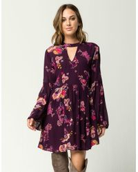 Patrons Of Peace - Floral Bell Sleeve Dress - Lyst
