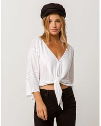 Amuse Society - Marine Dreams Womens Tie Front Top - Lyst