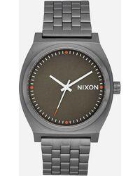 Nixon - Time Teller Gunmetal & Slate Watch - Lyst