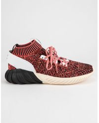 adidas - Tubular Doom Sock Primeknit Burgundy Mens Shoes - Lyst