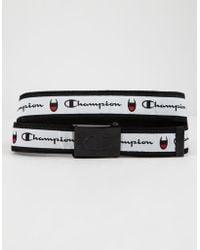 Champion - Attribute Black & White Web Belt - Lyst