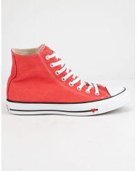 edd0a275915e Converse - Chuck Taylor All Star Denim Love High Top Womens Shoes - Lyst