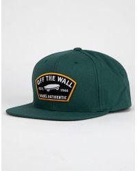 1aa26bef Vans Rowley Snapback Hat in Blue for Men - Lyst