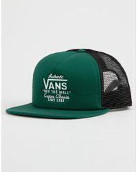 Vans - Galer Green Mens Trucker Hat - Lyst