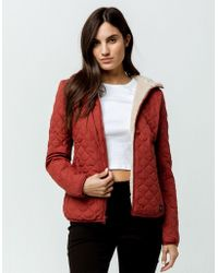 Rip Curl - Anti-series Anoeta Red Womens Jacket - Lyst