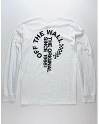 03e945617b Lyst - Vans Classic Circle V White Mens T-shirt in White for Men