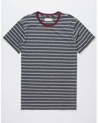 Retrofit - Trip Stripe Heather Black Mens T-shirt - Lyst