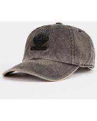 e0663b3e6f4 Lyst - adidas Originals Faux-leather Metallic-logo Hat in Black for Men