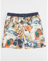 O'neill Sportswear - Feels Like Free Red & White Mens Boardshorts - Lyst
