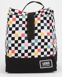 Vans - Mow Black Checkerboard Lunch Bag - Lyst