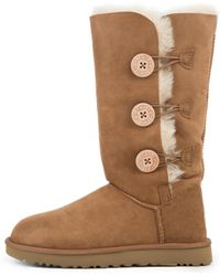 63ec2809aca Lyst - UGG Bailey Button Triplet Boots in Brown