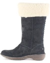 UGG - Karyn Black Cuff Sheepskin Boot - Lyst
