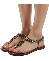 44d8303dcff2 Lyst - Sam Edelman Grella Chain Strap Sandals - Pewter in Metallic