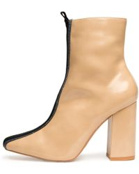 afac412131fa Lyst - Nasty Gal Mulder Platform Boot - Nude in Natural